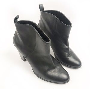 GAP | Black Leather Ankle Boots 7